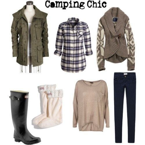 Camping Clothes ~ love the boots!
