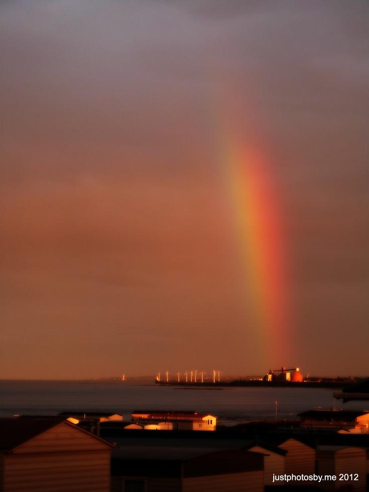 Rainbow over Ashington Northumberland