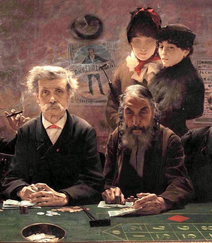 Jean-Eugène Buland : Le tripot, 1883
