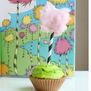 A truffla tree Cotton Candy Cereal Stick Cupcake All c's
