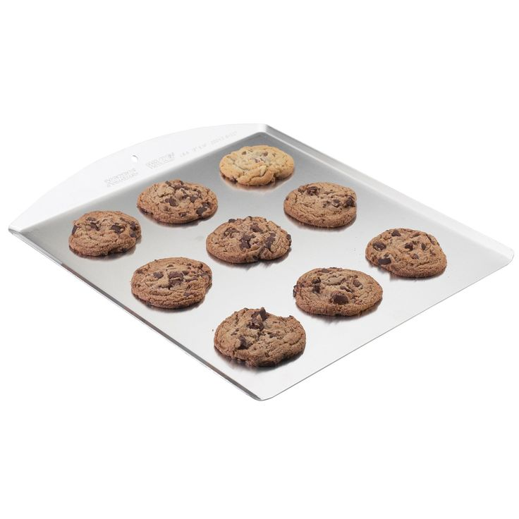 "Nordic Ware 42100 13"" X 14"" Cookie Sheet (Cookie Sheet 13x14), Silver aluminum, Size 13 x 14 (Metal)"