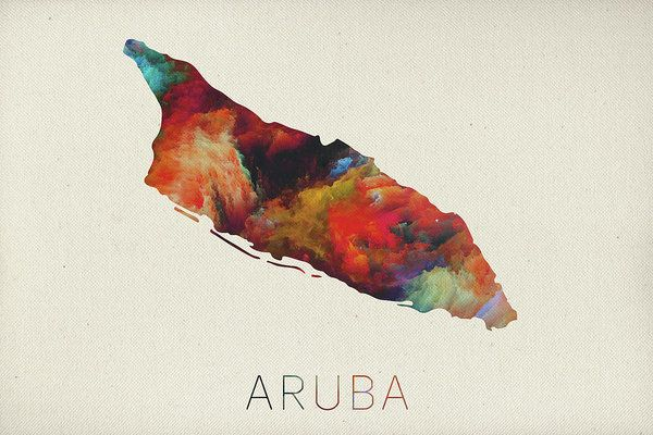 Watercolor Map Of Aruba Poster by Design Turnpike.  All posters are professionally printed, packaged, and shipped within 3 - 4 business days. Choose from multiple sizes and hundreds of frame and mat options.