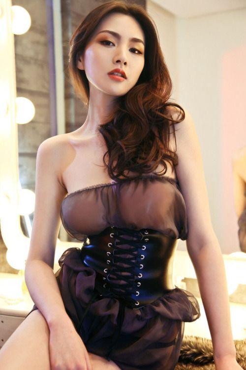korean girl nude corset