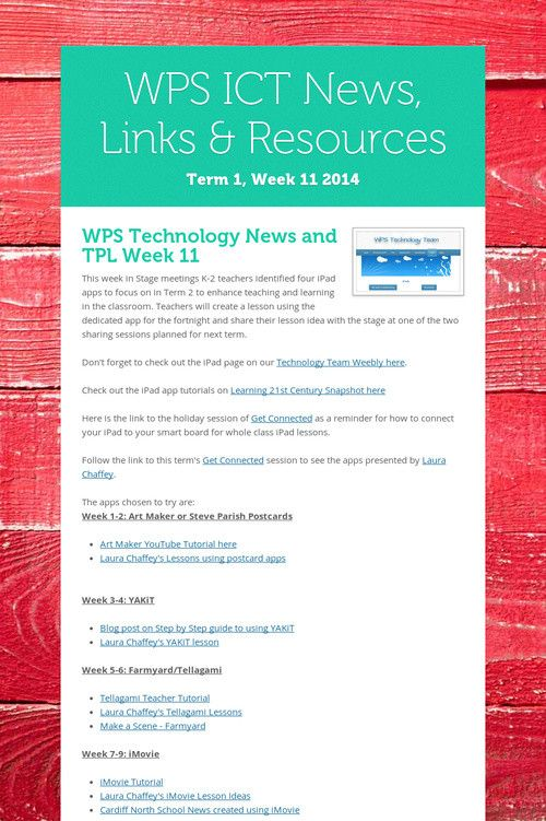 WPS ICT News, Links & Resources