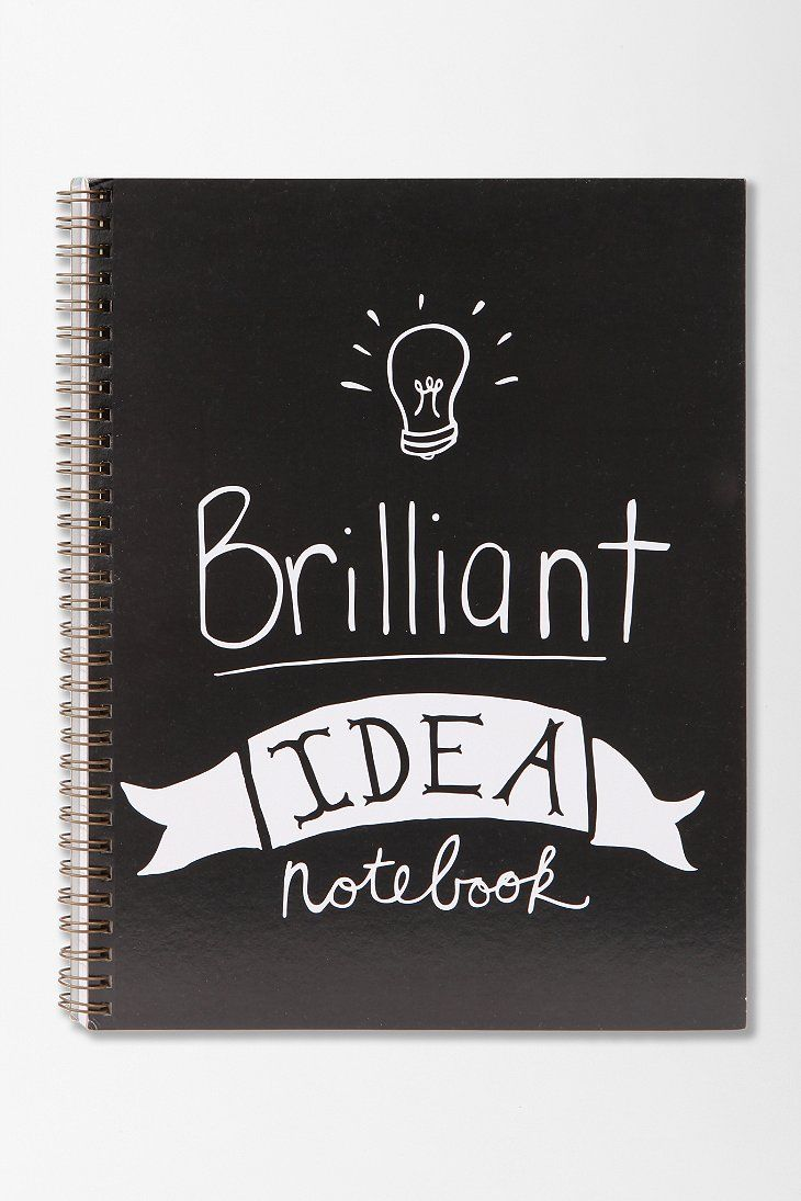 Brilliant Idea Spiral Notebook- DIY Journal Inspiration