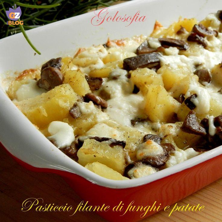 Pasticcio filante di funghi e patate, ricetta buonissima