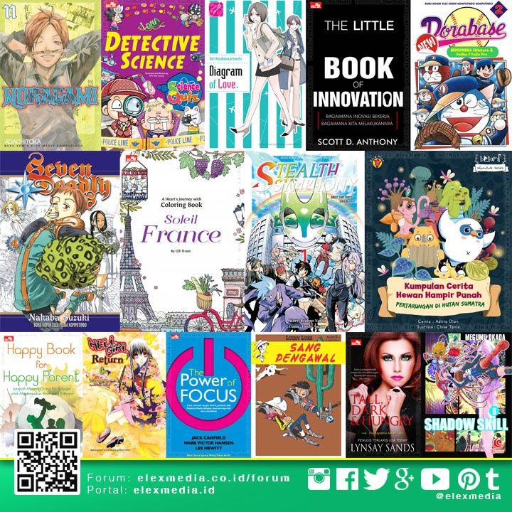 #BukuBaru JADWAL TERBIT MINGGU INI: http://j.mp/LX160224  Ingin dapat informasi jadwal terbit Elex Media dan sneakpeek komik terbaru? Mari bergabung ke Forum ELEX ONLINE, di sana jadwal di-update setiap minggu: http://bit.ly/LXORegs  Image: Highlight beberapa judul minggu ini, untuk daftar lengkap cek tautan jadwal di atas  #ElexMedia #gramedia #buku #komik #novel #fiksi #nonfiksi