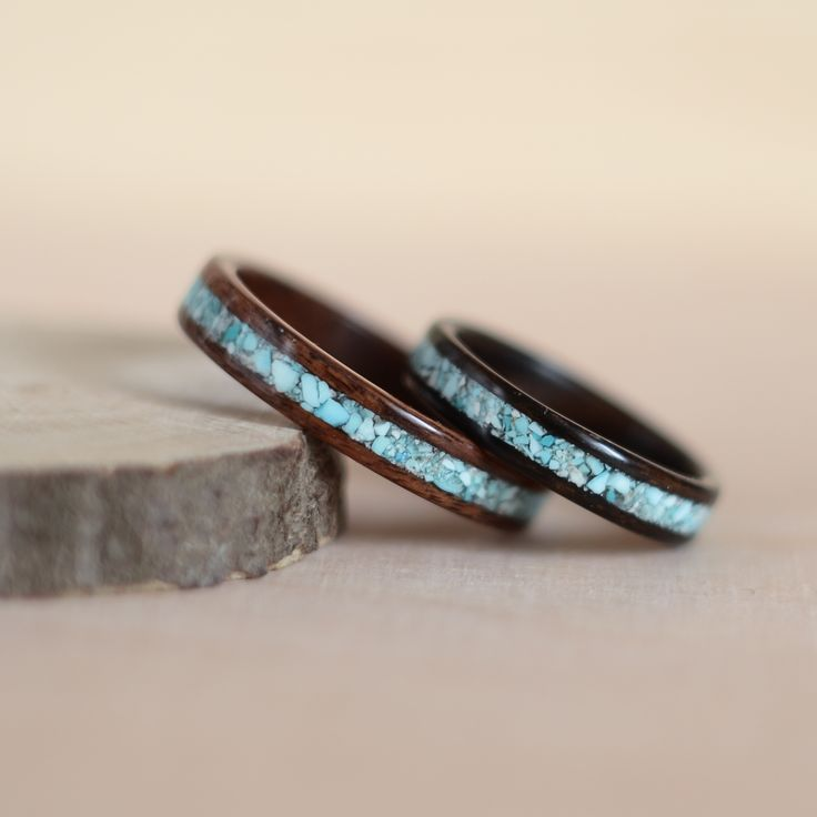 Rosewood santos, zirikote and turquoise inlays