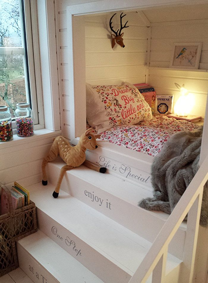 Liked For Bedroom: A Scandinavian Cottage By The Sea How Adorable To Build  A Bed Into An Alcove   And With Steps!