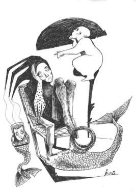 "Saatchi Art Artist Ioana Serban; Drawing, ""Illustration for Eminescu (4)"" #art"