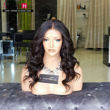 7A pleine dentelle perruques de cheveux humains pour les femmes noires vague de corps brésilienne cheveux vierge avant de dentelle de cheveux humains perruques sans colle pleine dentelle perruques(China (Mainland))
