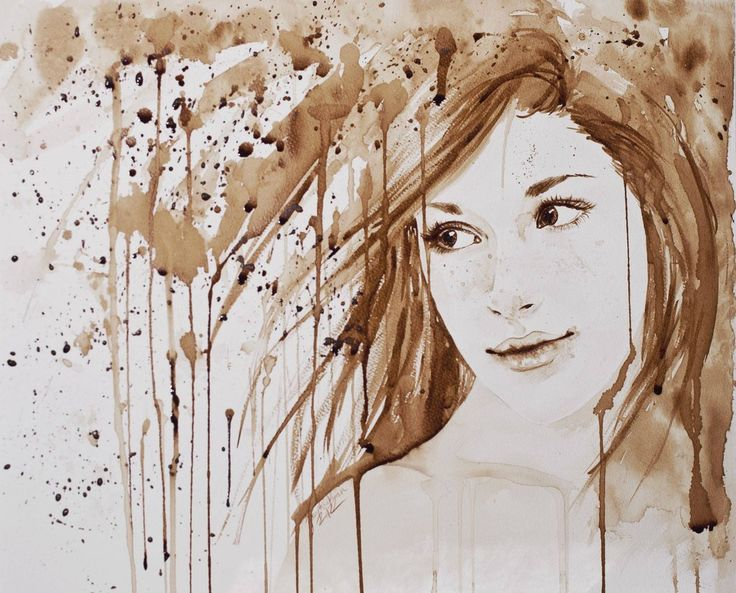 Painting made with coffee!