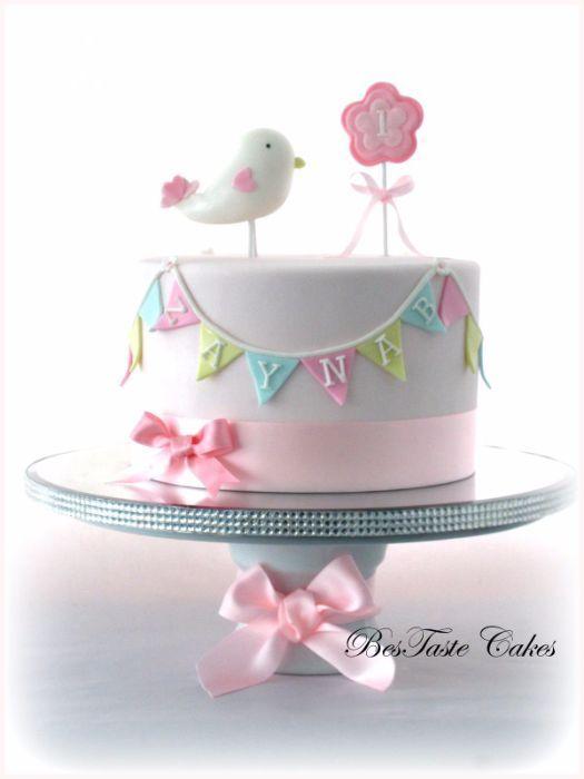 Best St Birthday Cakes Images On Pinterest St Birthday - 1st birthday cake girl