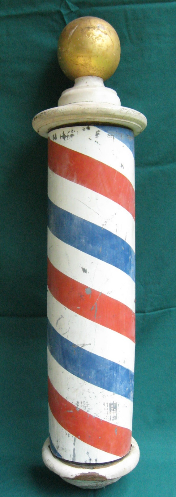 Vintage Barber Pole decorative advertising sign | eBay - We get haircuts at our July 4th gathering!!!