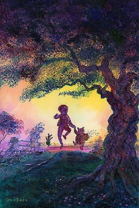 Winnie the Pooh - Best Friends - Harrison Ellenshaw - World-Wide-Art.com - $925.00 #Disney #Ellenshaw