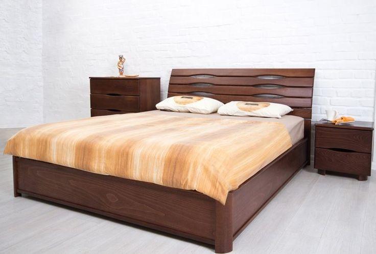 купить красива шикарна суперская симпатична двуспальная кровать деревянная ліжко…