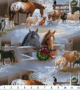 Horse fabric- ChristmasHoliday Horses, Farms, Holiday Inspiration, Christmas Scene, Inspiration Fabrics, Holiday Fabrics, Horses Scenic, Hors Fabrics, Horses Fabrics