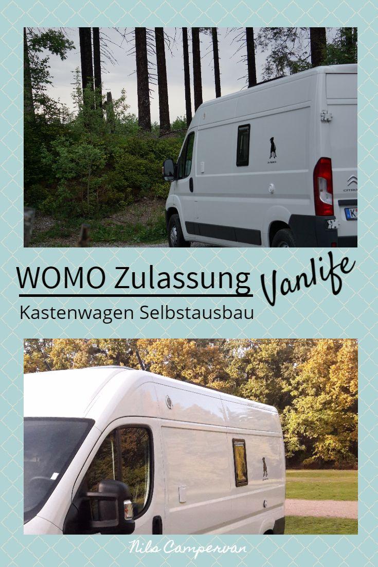 Wohnmobil Zulassung  Wohnmobil, Kastenwagen, Kasten