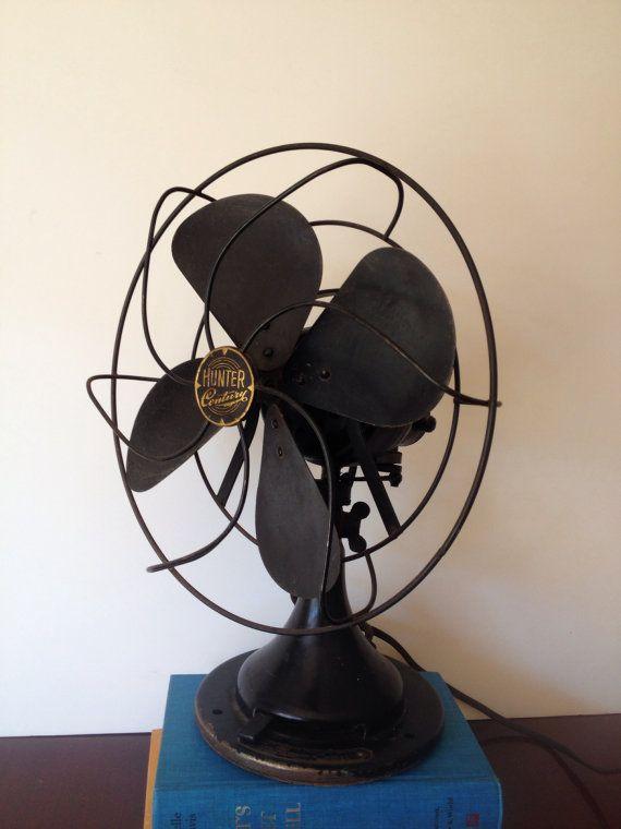 Vintage Hunter Century Industrial Desk Fan / Black ...