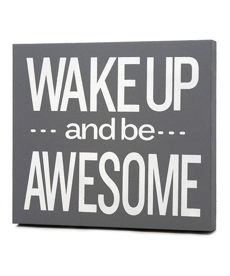 'Be Awesome' Wall Art