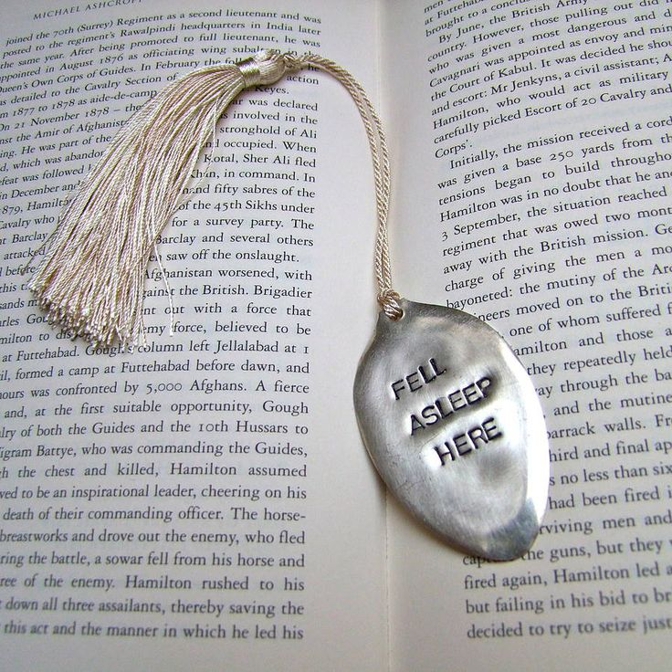 'fell asleep' vintage spoon bookmark by home & glory | notonthehighstreet.com