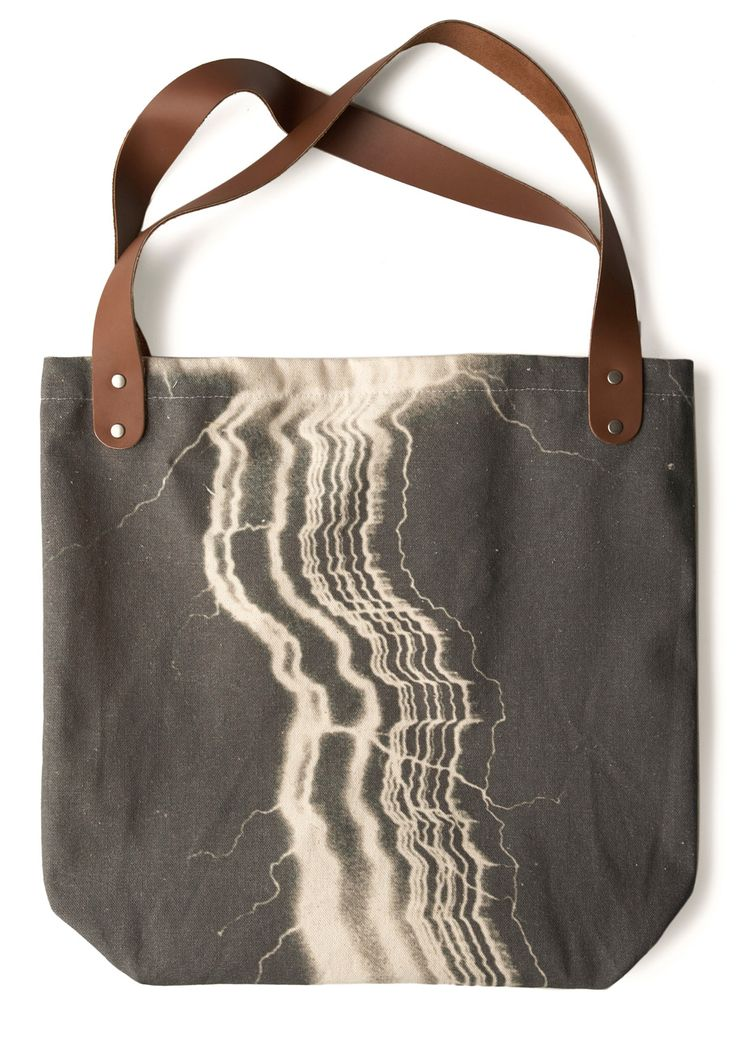 Sunday Market Tote in Lightning by FluffyCo: Market Tote, Vintage Bag, Accessories, Lightning Tote, Modcloth Com, Bags, All