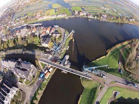 Vervangen groene brug van bovenaf