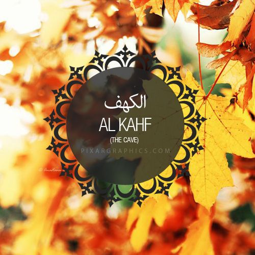 When Friday comes, don't forget to read Al-Kahf. ^^