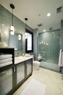 stunning bathroom with walk in shower {reynolds gualco architecture & interior design}