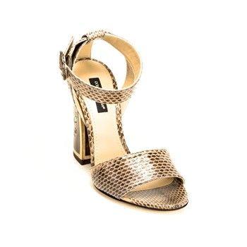 Dolce & Gabbana - Sandalias de tacón de cuero - marrón oscuro - 1983950