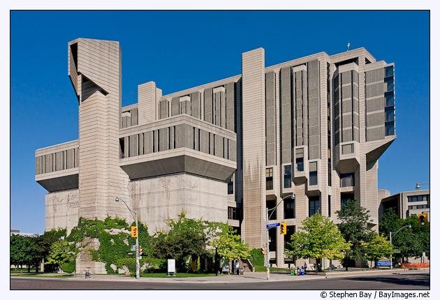 Robarts Library at the University of Toronto. Toronto, Canada.