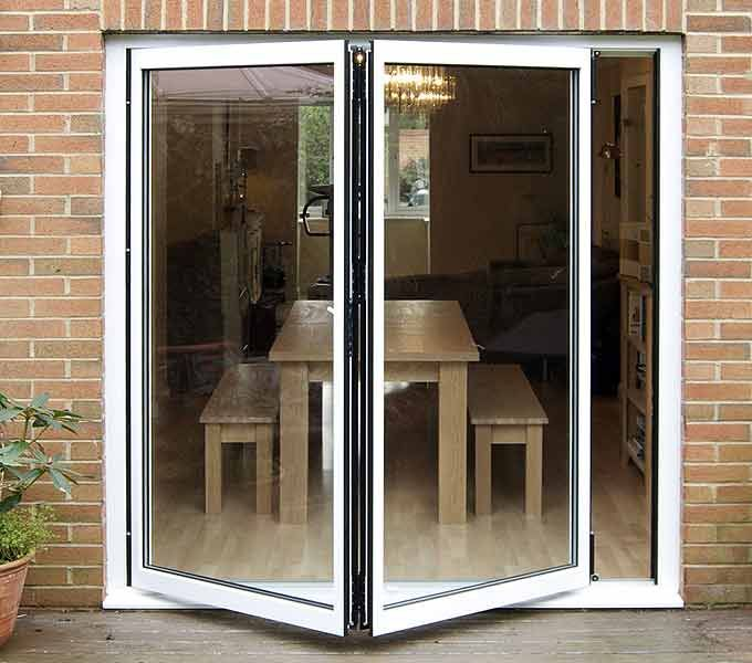 A simple elegant 2 leaf folding door. & 22 best Aluminium Bifold Doors images on Pinterest | Glass doors ...