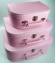 Kids Mini Suitcase Set - Pastel Pink set of 3 or 4