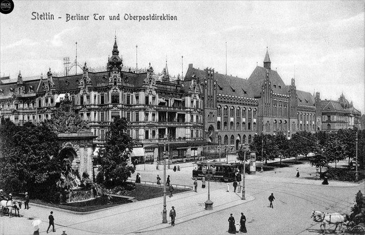 Stettin - Berliner Tor und Oberpostdirektion, 1907