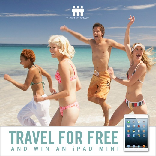 The Student Life Network can help you travel FREE!    Go to http://studentlifenetwork.com/travel/?utm_source=pinterest_medium=pin_campaign=slntravellaunchpinand sign up to be a rep with our travel division.     Like and share this post on Facebook and comment with your dream travel destination to enter our draw for an iPad Mini! Facebook shy? You can still enter the draw by emailing your name and destination of choice to contests@studentlifenetwork.com.