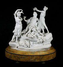 Gran Antiguo Sevres Porcelana Biscuit Escultura Grupo dionisius Siglo Xix Antiguo