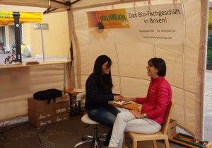 Handmassage beim Fest Bio region Südtirol 2015