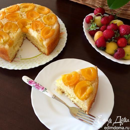 Абрикосовый пирог Нежный, ароматный пирог с абрикосами! #едимдома #вкусно #пирог #выпечка #рецепты #кулинария #готовимдома #абрикосы