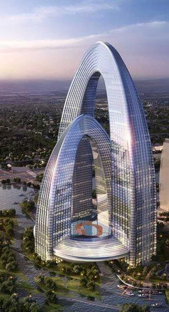 The Rainbow Gate Tower, Beijing, China by Gensler Architects :: 68 floors, height 316m