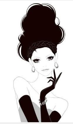 ena fashion illustration. Figurative silhouette idea