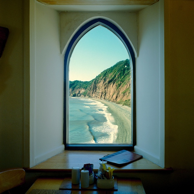 Framed view in Sidmouth, England.  Windows, when thoughtfully placed can be more than just a window.  (Photo by Derek King)