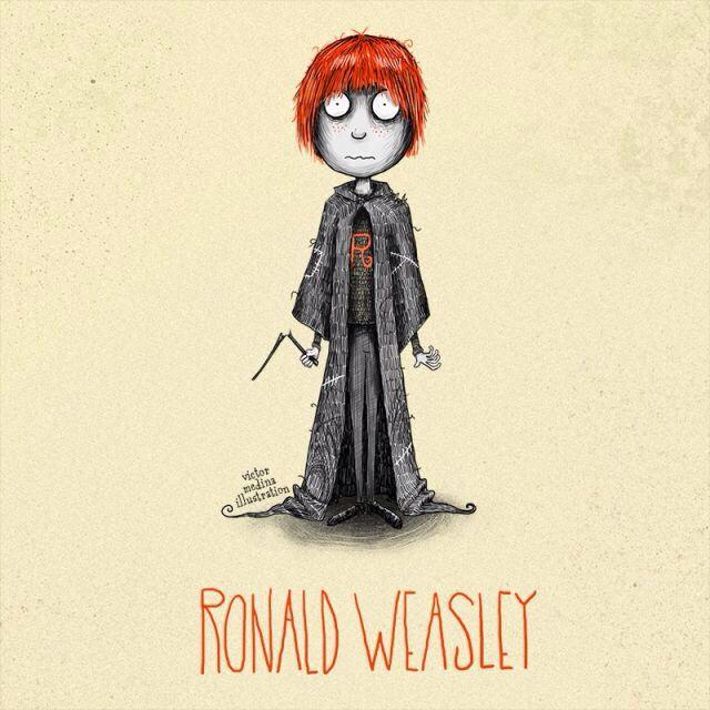 Ron Weasley - Tim Burton style