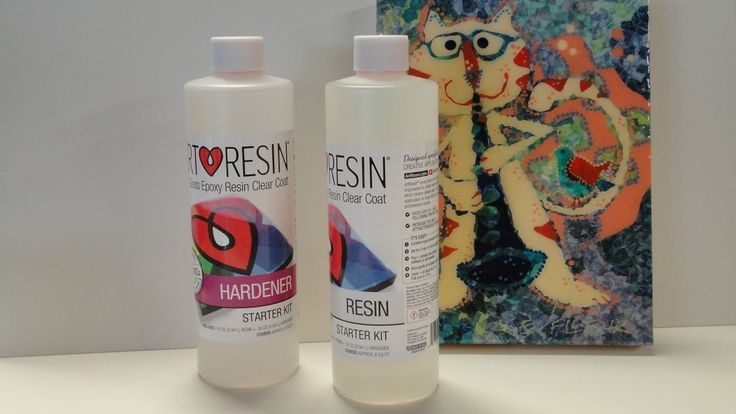 ArtResin Test over Liquitex Pouring Medium