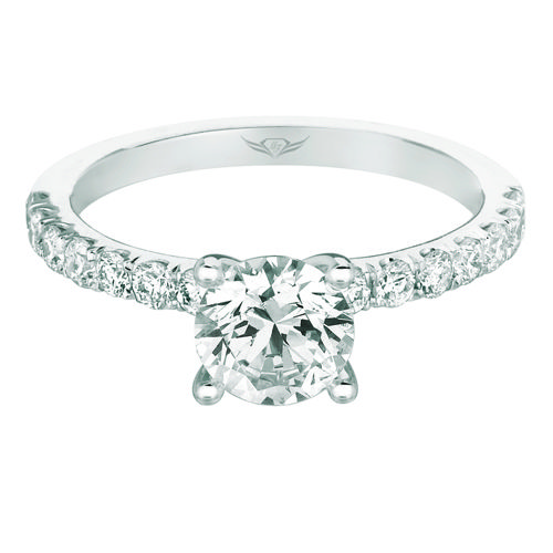 Martin Flyer Micropave Engagement Ring