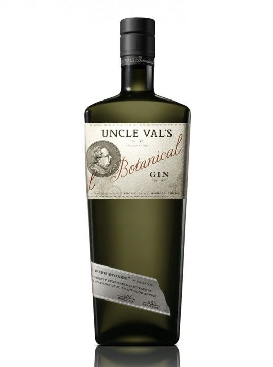 Like the way the label wraps around the bottom of the bottle. The bottle shape seems uncharacteristic of gin. Thoughts? Uncle Val's Botanical Gin