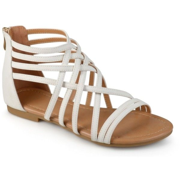 Journee Collection Hanni Gladiator Sandal Women's Shoes | DSW ($40) ❤ liked on Polyvore featuring shoes, sandals, greek sandals, roman sandals, gladiator sandals shoes and gladiator sandal