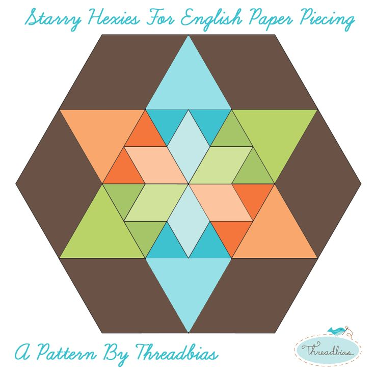 Threadbias Starry Hexies For English Paper Piecing Epp