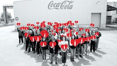 Group shot of the Coca-Cola HBC Ambassadors
