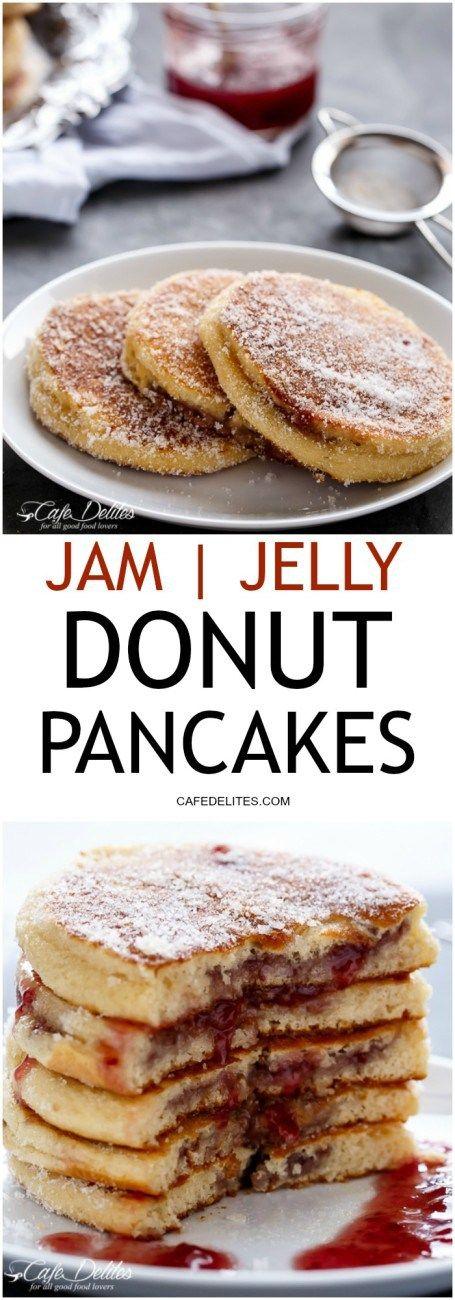 Jam(Jelly) Donut Pancakes | Recipe | Donuts, The o'jays and Breakfast