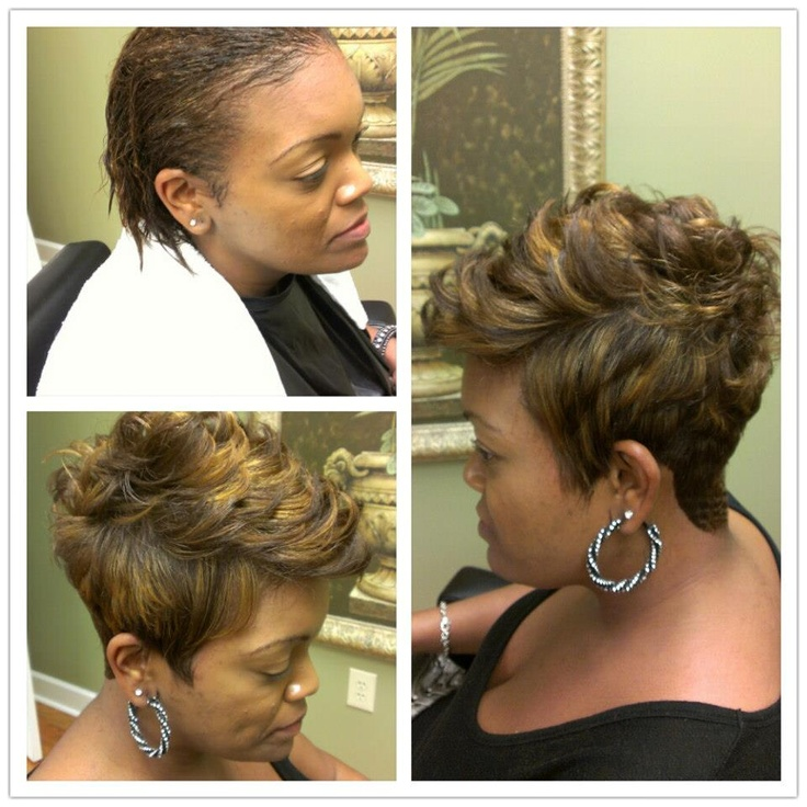 Our client drives 1 hour from Kennesaw, GA to get her nice fresh hair cut & color The NouriTress Way - Stylist DeShawn  Call 770-460-9245 to schedule an appt.